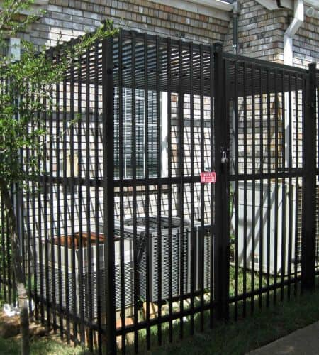 A Steel cage keeps a home