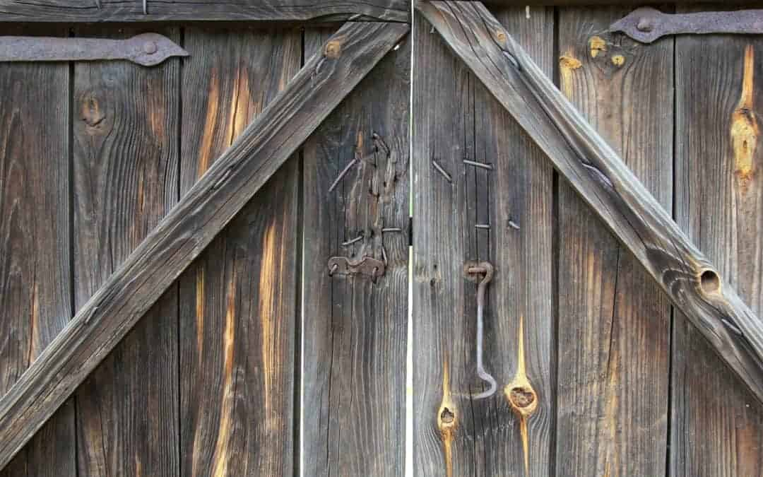 A Close Up Of Wooden Fence Weathered With Age